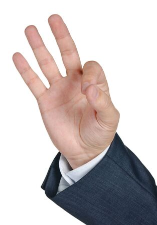 Gesturing hand OK isolated on white background Stock Photo - 11503560