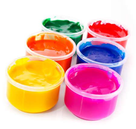 guache: Multi-color de pintura aguada aislados Foto de archivo