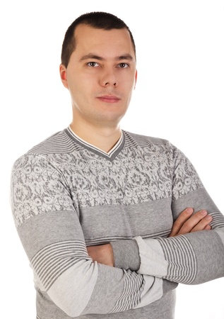 Portrait of a handsome young man over white Stock Photo - 12966241