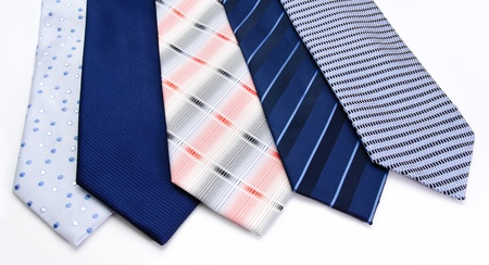 Five ties  isolated on a white background Stock Photo - 15303287