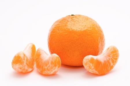 Orange tangerines isolated on a white background  photo