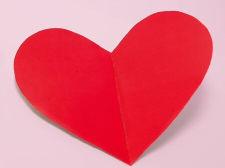 Holiday card heart from paper valentines day isolated Stock Photo - 17350293