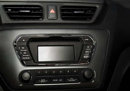 Control panel and cd in a modern car  photo