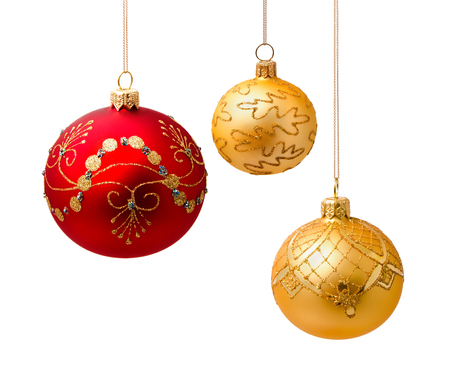 Perfect christmas balls isolated on white  photo