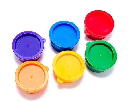 finger paint: Children finger paint isolated on a white