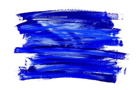 Paint brush stroke texture blue watercolor isolated on a white background Reklamní fotografie