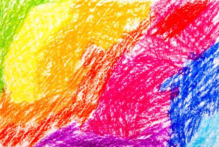 crayons: Abstract wax crayon hand drawing background