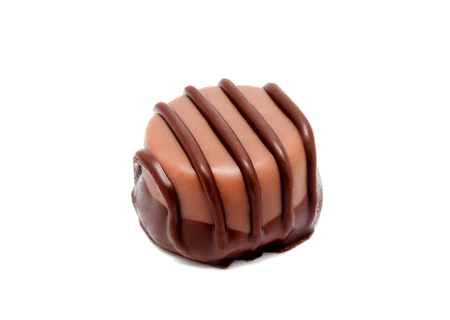 Chocolate candy sweet isolated on a white background