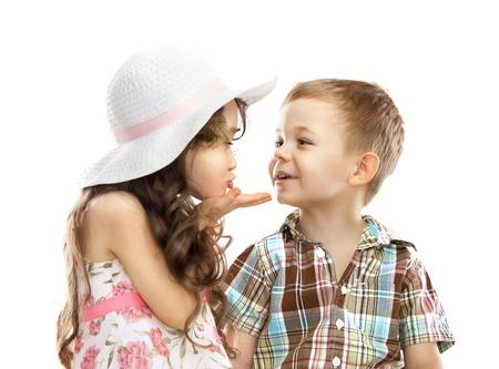 girl sends kiss boy