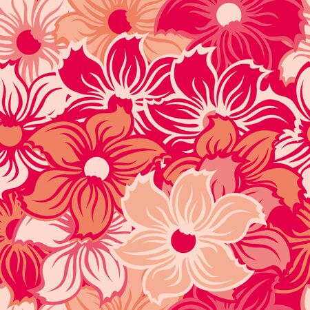 abstract pink: Seamless abstract pink floral wallpaper