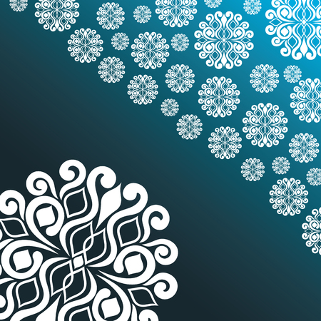 branching: abstract illustration with snowflakes on a blue background.vector illustration Illustration