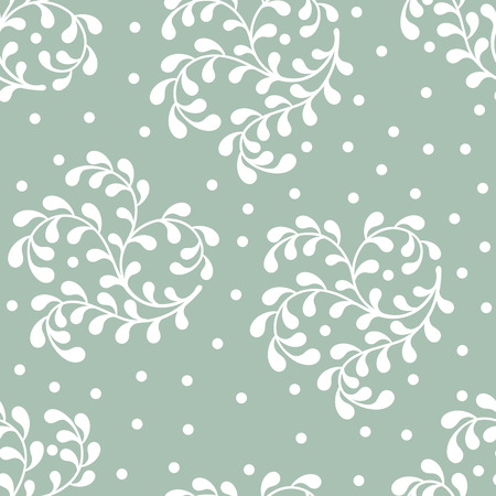 twigs: seamless abstract pattern of white twigs on blue background.vector illustration