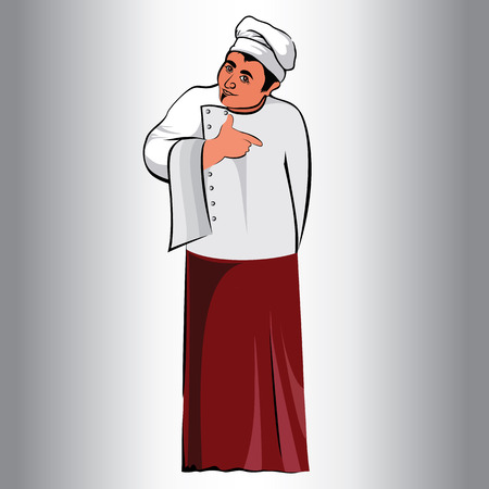 figure male,occupation cook.kitchen,cook.in an apron.vector illustration