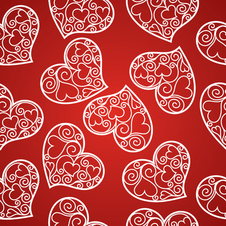 fishnet: Valentines day seamless pattern with fishnet hearts.vector illustration