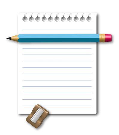 Illustration of notebook Stock Illustration - 4469166