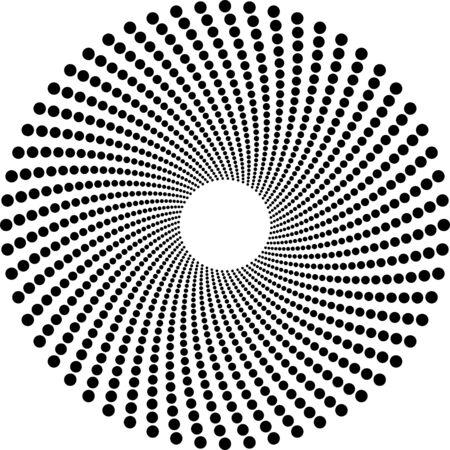 Halftoonraster kringen Vector Illustratie