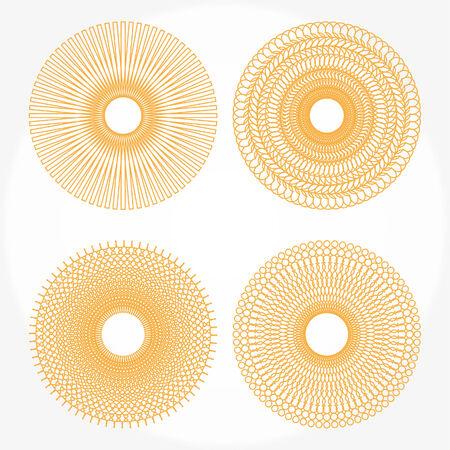 Spirograph Muster auf weißem Hintergrund