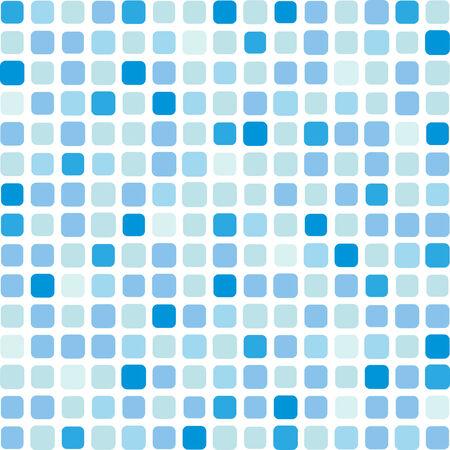 Marine vierkante vector mozaïek achtergrond van witte telefoon Vector Illustratie
