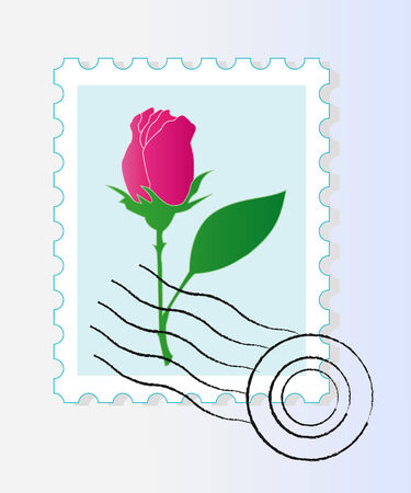 Stamp mark with rose