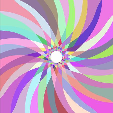 Retrò modello astratto multicolore