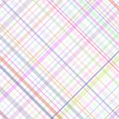 Pastel multicolored stripes plaid