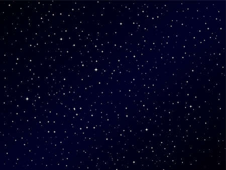 Milky way, the sky above us, vector illustration with stars, starry night sky. Vettoriali