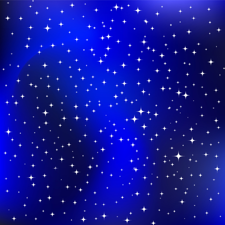 Milky way, the sky above us, vector illustration with stars, starry night sky