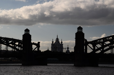 Saint-Petersburg, Bolsheohtinskiy bridge photo