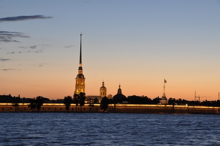 Saint Petersburg, Peter and Paul fortress at sunrise photo