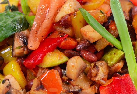 Ratatouille from vegetables close up photo