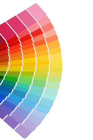 Die Farbpalette isoliert auf weißem Hintergrund Standard-Bild - 27454163