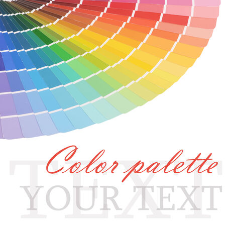 The color palette isolated on white background photo