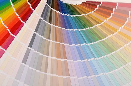 The color palette a background close up photo