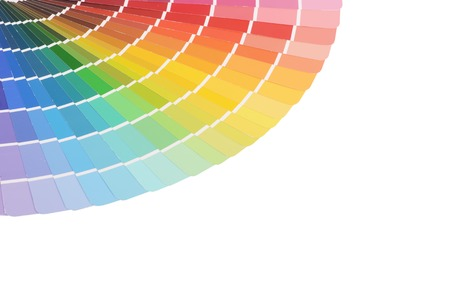 The color palette isolated on white background