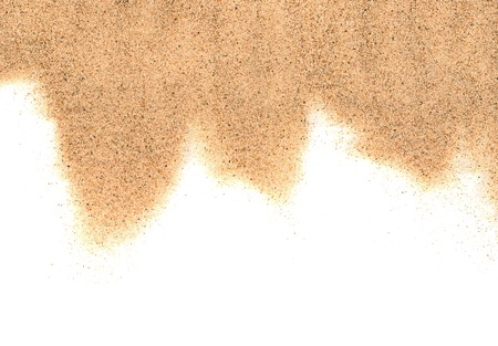 The sand isolated on white background close-up photo
