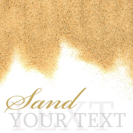 The sand isolated on white background close-up