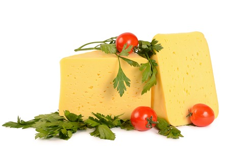 cheez: The fresh cheese isolated on white background