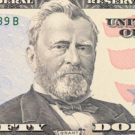The face of Grant the dollar bill