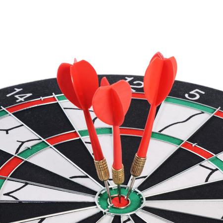 bullseye: The darts isolated on a  white background Stock Photo