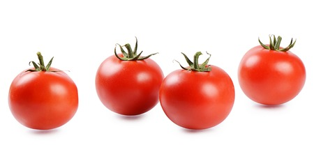 Red fresh tomatoes isolated on white background Archivio Fotografico