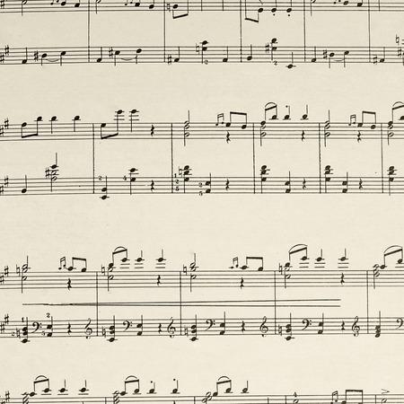 La página de la hoja de música - la composición de Beethoven