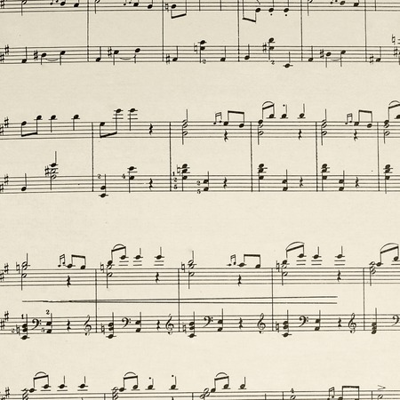 The music sheet page - the composition Beethoven