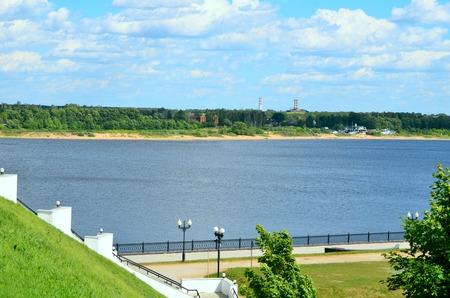 volga: Volga River Embankment in Yaroslavl in summer