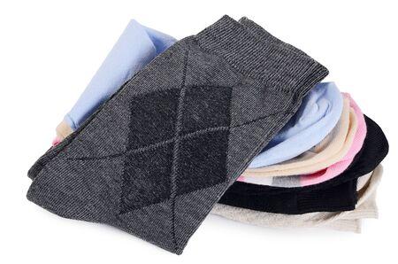 calcetines: Calcetines del hombre aislado en blanco un fondo