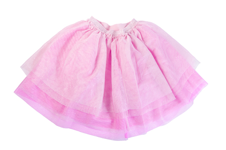 habiliment: Pink skirt isolated on a white background Stock Photo