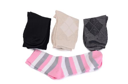 underwear: Calcetines del hombre aislado en blanco un fondo