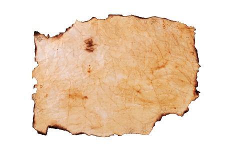quemado: Old crushed paper with the burned edges