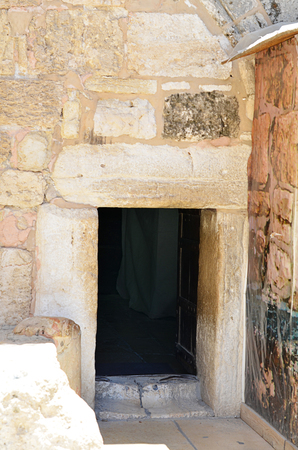 humility: Small entrance to the temple in Bethlehem