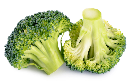 nourishing: Fresh broccoli isolated on a white background Stock Photo