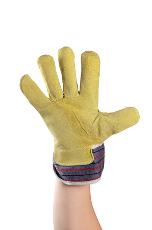 Working mens gloves isolated on white background
